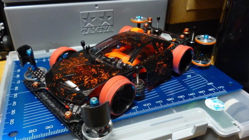 ラップ塗装✖黒蛍光オレンジ TRFワークスJr